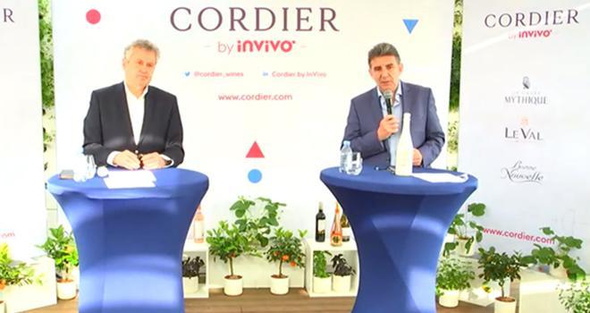 Thierry Blandinières et Philippe Leveau, à la tête de Cordier by InVivo. Conférence de presse du 1er avril.
