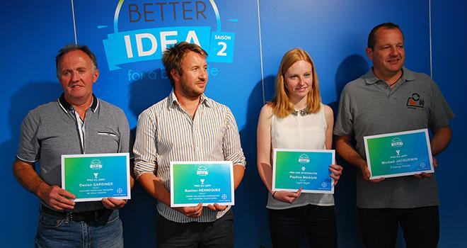 Quatre des cinq lauréats de Better Idea saison 2 étaient présent au Culturales 2017 pour recevoir leur prix. © M. Lecourtier/Pixel image