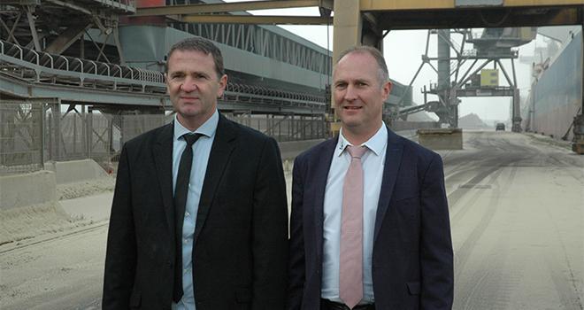 Laurent Bué et Joël Ratel, président et directeur de la Sica Nord Céréales.
