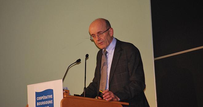 Dernière assemblée générale pour Michel Duvernois, le directeur général de la coopérative Bourgogne du Sud. © E.Thomas/Pixel6TM