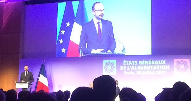 Edouard Philippe, Premier Ministre, ouvre les États généraux de l'alimentation. © H. Sauvage/Pixel Image