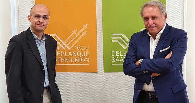Éric Verjux (à droite) est le président du directoire du réseau Deleplanque Saaten-Union, et Rémi Lefebvre est directeur de l'activité grandes cultures. Photo : Deleplanque Saaten-Union