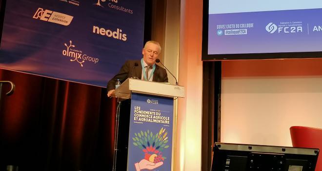 Frédéric Carré, président de la FC2A, a terminé son discours en s'adressant à Jean-Baptiste Lemoyne : « La FC2A et ses adhérents ne jetteront pas l'éponge ! » Photo : S.Bot/ATC