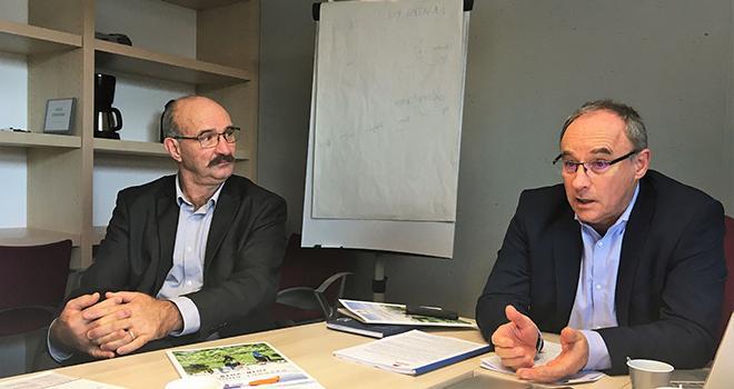 Philippe Delusset, président d'Océalia et Thierry Lafaye, le directeur. Photo O.Lévêque/Pixel6TM