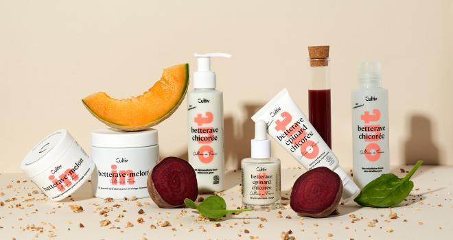 Cultiv est la nouvelle gamme de cosmétiques et de compléments alimentaires à base de légumes certifiés bio, dont plus de 99,4% des ingrédients sont d'origine naturelle. CP : Cultiv