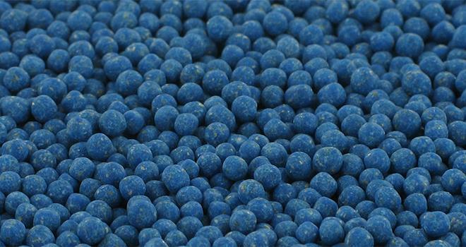 La forme du granulé Metarex®Duo est inédite. Les granulés d'antilimace sont d'ordinaire de forme cylindrique. CP : De Sangosse