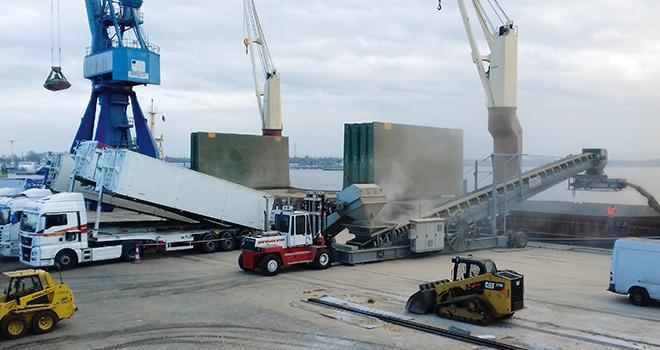 L'un des atouts de Triskalia : la proximité géographique de ses points de stockage avec plusieurs installations portuaires, dont celle de Lorient. © Port de commerce de Lorient