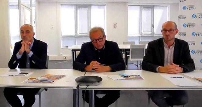 Marc Morellato, Gérard Poyer et Antoine Pissier ont présenté le livre blanc de la FC2A à la presse le 19 mai. Photo : DR