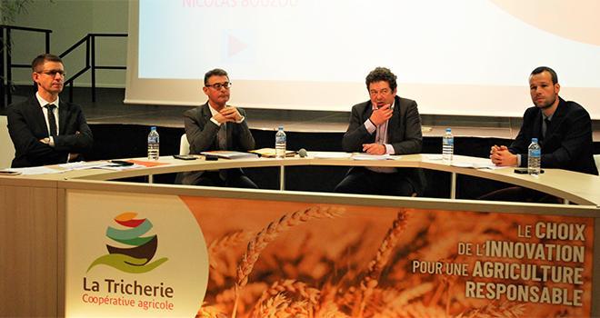 De gauche à droite : Benjamin Bichon, Jean-Paul Serreau, Alain Bergeon (pdt), et Baptiste Breton. Photo O.Lévêque/Pixel Image