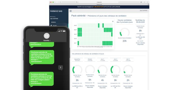 Les coopératives et les négoces peuvent utiliser l'outil FarmViz pour leurs installations mais également diffuser les solutions à leurs agriculteurs adhérents ou clients. CP : DR