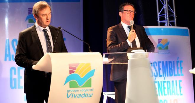 Franck Clavier, directeur général (à gauche), et Jean-Marc Gassiot, président de Vivadour.Photo Vivadour.
