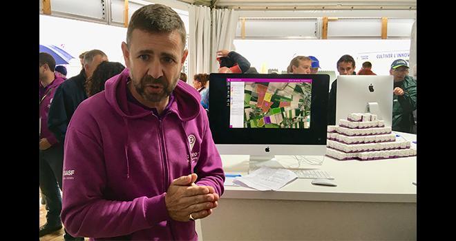 Ben Wallace, responsable de la solution digitale xarvio de Basf, lors des Culturales 2019. CP : O.Lévêque/Pixel6TM